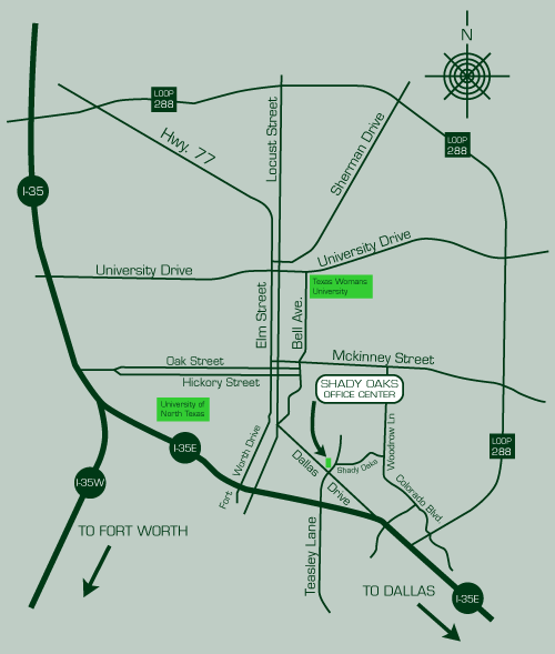 Road Map of Denton